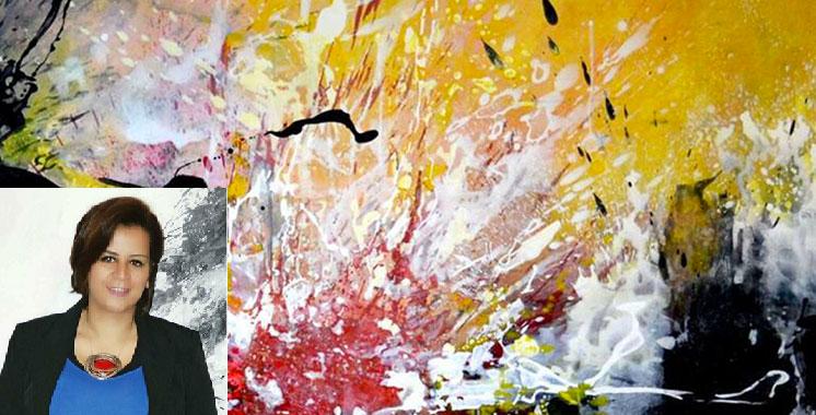 Vernissage de l'exposition «La chute des anges» de Hanae El Oudghyry : Au-delà  des toiles