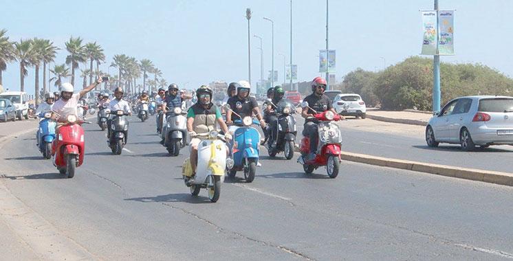 Défilé : Les Vespistes casablancais font leur parade