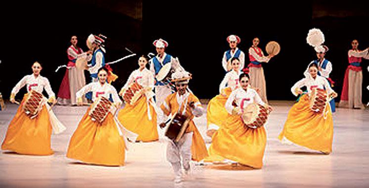 Le spectacle de la musique traditionnelle coréenne à Rabat