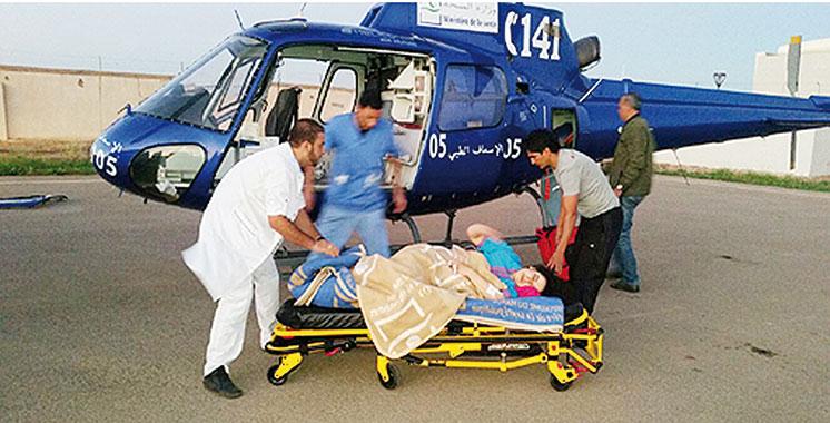 Les hélicoptères médicalisés du ministère de la santé poursuivent leurs interventions