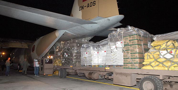 Sur Hautes instructions royales,  envoi d'une aide humanitaire d'urgence au Bangladesh