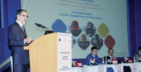 Saâd Eddine El Othmani appelle à davantage d'efforts pour réduire à 20% le nombre d'analphabètes en 2021