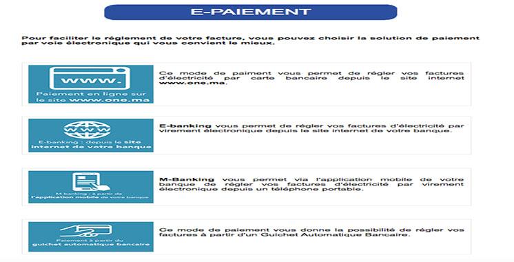 L'ONEE met en service de nouveaux modes de paiement électronique