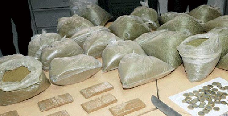 Chefchaouen : Saisie de 8,5 t de kif granulé et 300 kg de kif en tiges et arrestation de cinq personnes