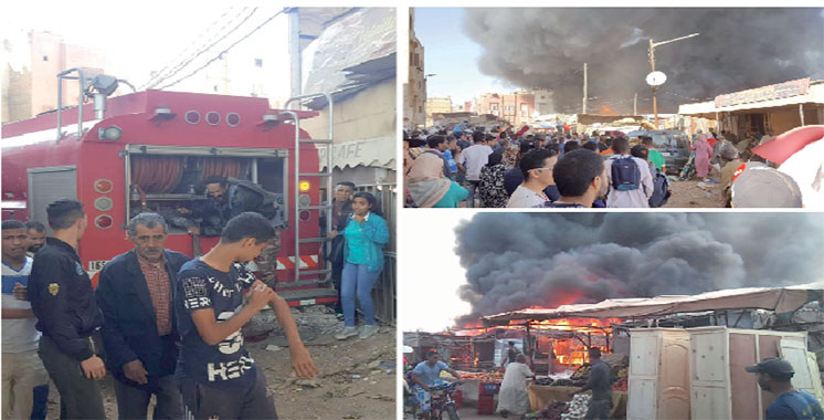Casablanca : Grand incendie dans un marché populaire