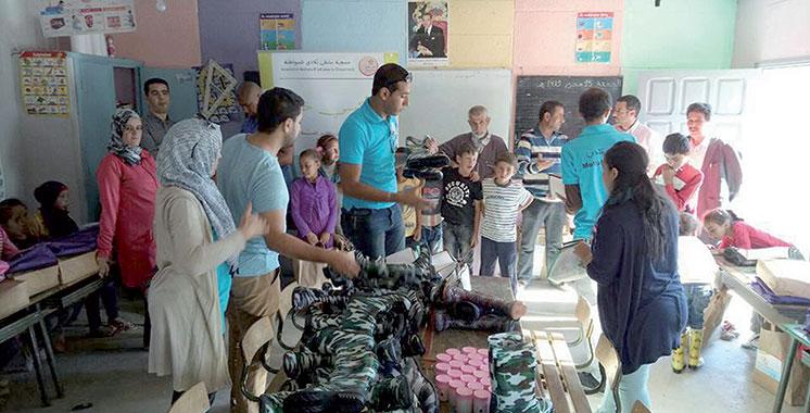 Province d'Al Hoceima : «Moltaka B'ladi pour la citoyenneté» au chevet des enfants de Douar Tafsast