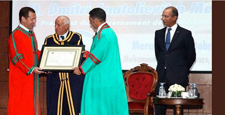 Medvedev distingué «Docteur Honoris Causa» par l'Université Mohammed V de Rabat
