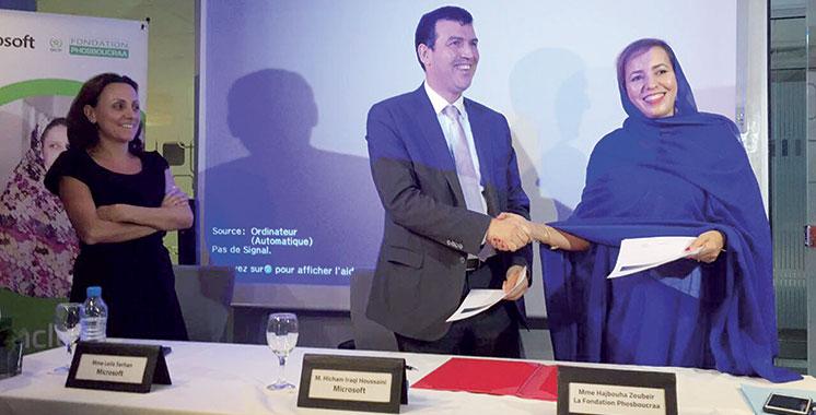 Partenariat : La Fondation Phosboucraa s'allie à Microsoft pour l'inclusion numérique dans le Sud