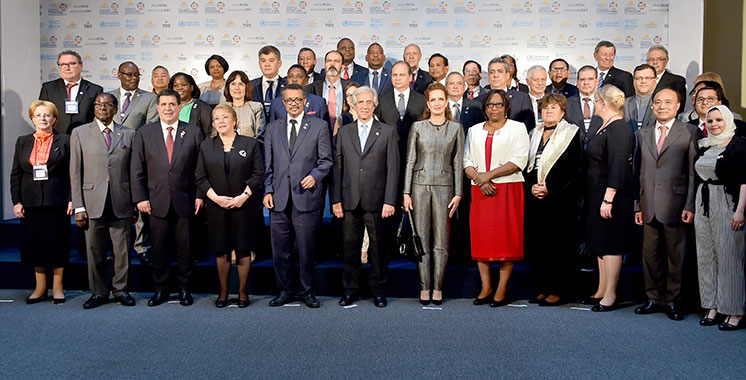 La Princesse Lalla Salma prend part à la Conférence mondiale de l'OMS