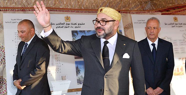 Salé : Le Roi Mohammed VI lance le projet d'aménagement de «Souk Assalihine»