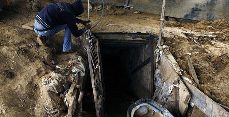 Gaza  : Cinq palestiniens tués dans le bombardement d'un tunnel