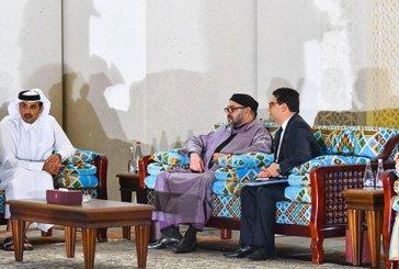 Doha : Le Roi Mohammed VI s'entretient avec l'Emir du Qatar