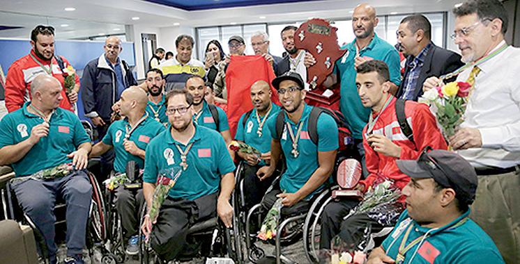 Retour victorieux de la sélection nationale de basket en fauteuil roulant