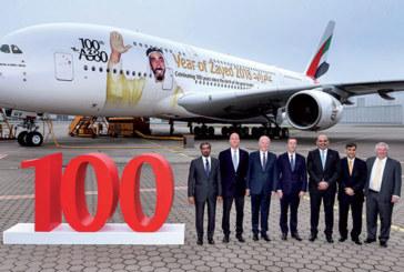 Emirates reçoit son 100ème Airbus A380