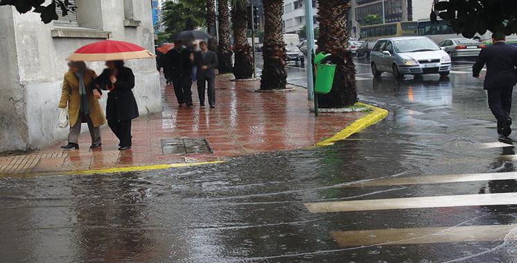 Alerte météo: De fortes pluies attendues jeudi dans plusieurs régions du Royaume