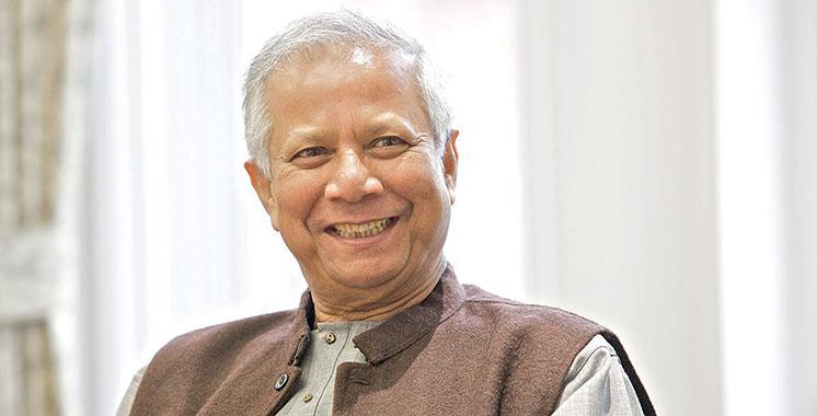 Le prix Nobel de la paix Muhammad Yunus à Casablanca
