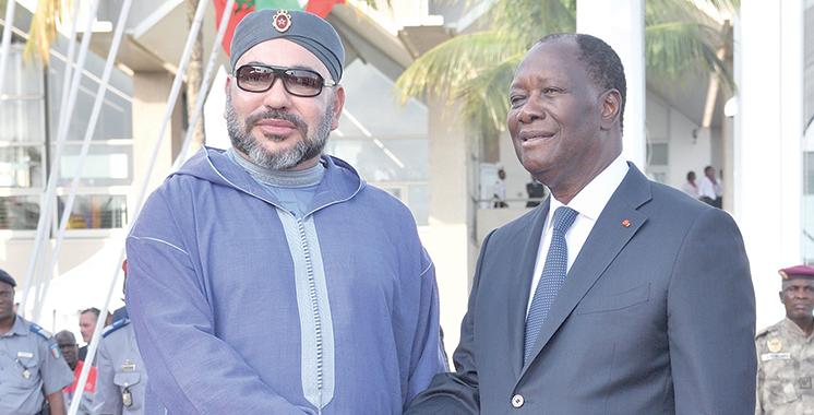 SM Mohammed VI entame une visite  de travail en Côte d'Ivoire