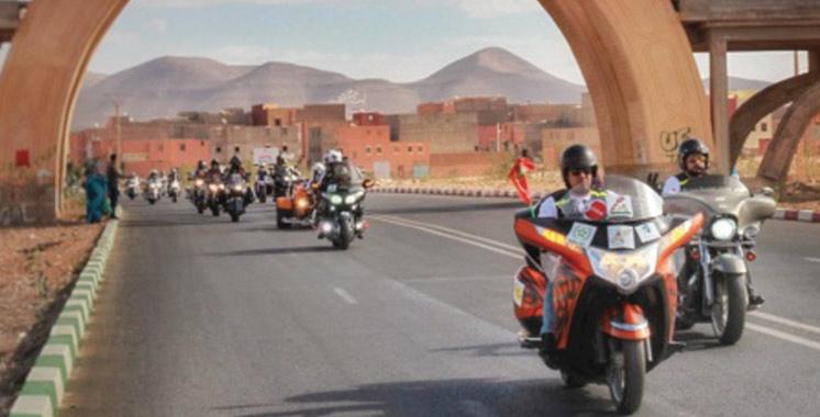 5ème Tour international des motos  de la Marche Verte  : Arrivée  à Marrakech des participants