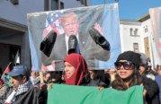 Marche nationale contre la décision du président américain