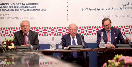 à l'Académie du Royaume du Maroc : Marcelino Oreja Aguirre livre «un regard européen sur l'Amérique Latine»