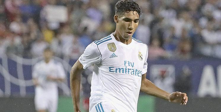Achraf Hakimi, premier joueur marocain  à marquer un but dans l'histoire du Real