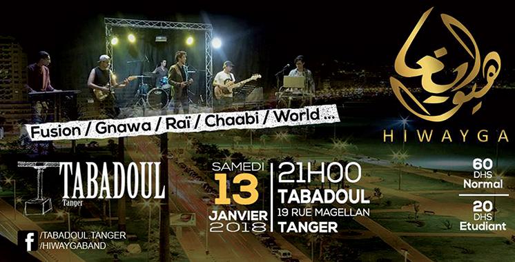Le concert «Hiwayga» se produira à l'espace Tabadoul de Tanger
