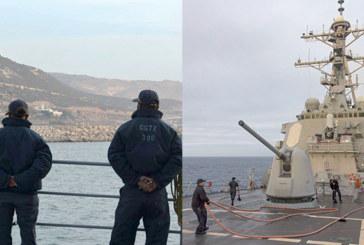 Le destroyer américain USS Ross en escale au port d'Agadir