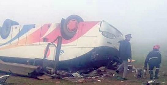 Safi : 30 blessés dans le renversement d'un autocar après une collision avec une voiture légère