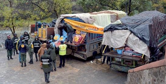 Vague de froid : Distribution d'aides à 1.638 familles en situation difficile à Azilal