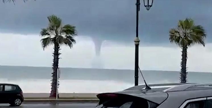 Trombe marine à Rabat : La météo nationale rassure