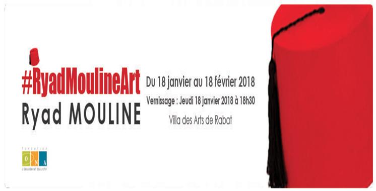 Exposition «#RyadMoulineArt»  à la Villa des arts de Rabat