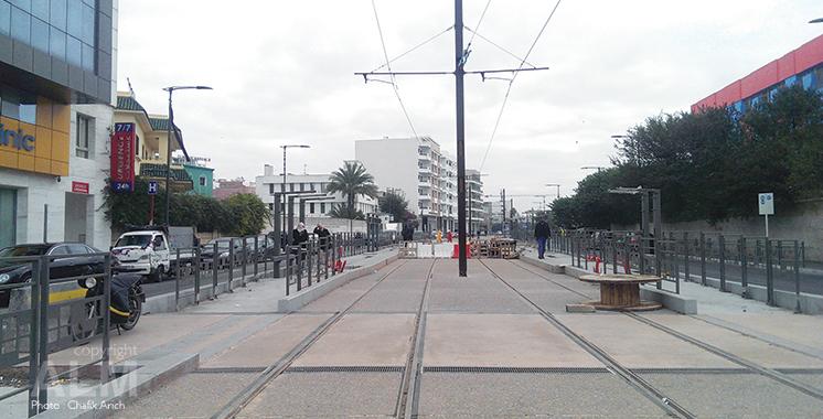 2ème ligne du tramway casablancais : Les travaux achevés à 95% sur la voie ferrée
