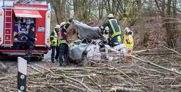 Huit morts dans la violente tempête en Allemagne
