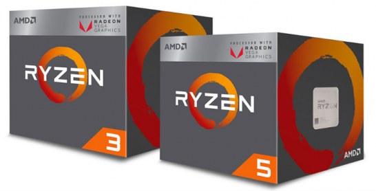 AMD lance enfin les Ryzen 5 2400G et Ryzen 3 2200G avec iGPU Vega