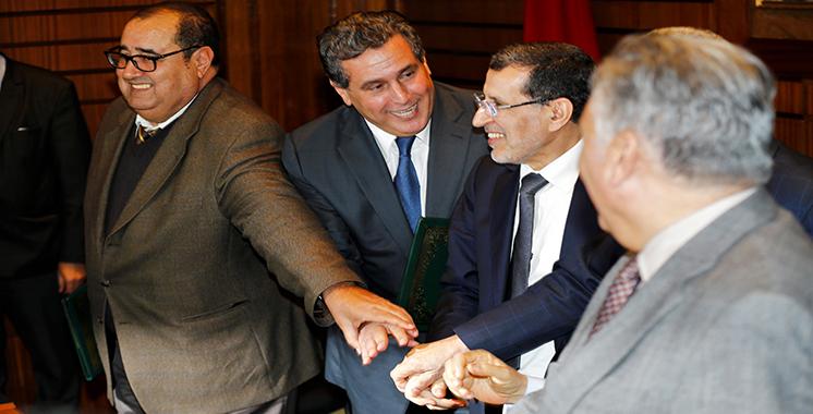 Rabat : Les partis de la coalition gouvernementale signent une charte pour une action commune