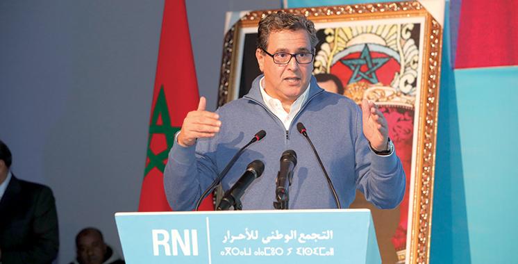 Congrès du RNI pour la Région Beni Mellal-Khénifra: Akhannouch réitère l'importance du débat autour du modèle de développement