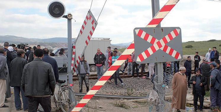 Collision entre un train et un minibus à Tanger :  Un bilan très lourd