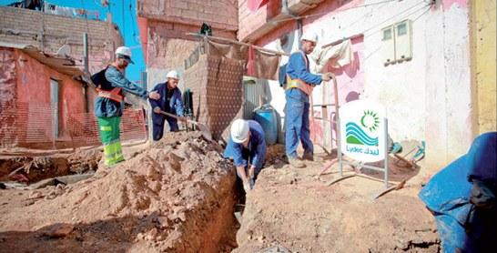 Le programme INDH-Inmae en marche : Lancement des travaux d'alimentation en eau potable dans la commune urbaine de Bouskoura