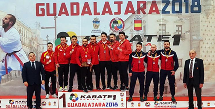 Karaté : Le Maroc remporte la médaille d'or en kata par équipe à Open de Guadalajara