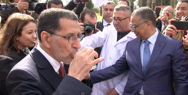 Qualité des eaux du barrage Sidi Mohamed Benabdallah : El Othmani fait  la démonstration sur les lieux