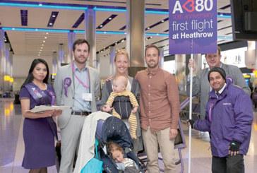 Airbus et Heathrow fêtent le 10ème anniversaire du premier vol de l'A380 à destination de Londres