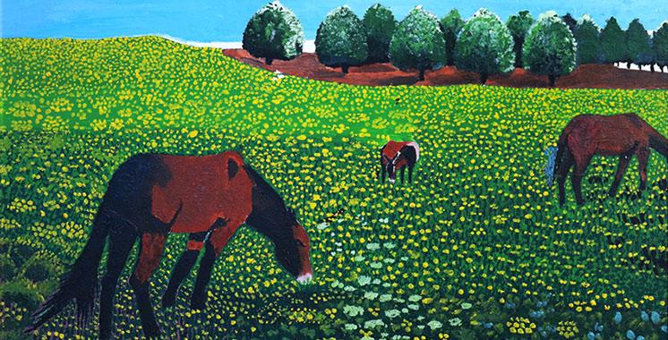 Le printemps meuble les toiles de Krifla en exposition