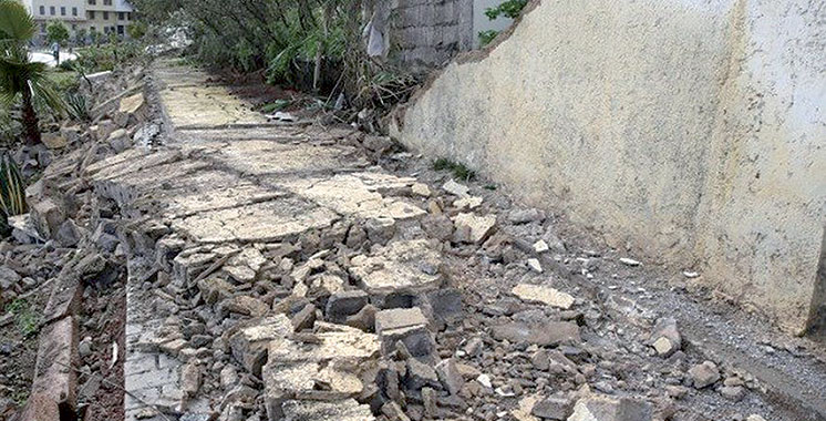 Fès : Un mort dans l'effondrement d'un mur de clôture de l'hôpital psychiatrique Ibn Al Hassan