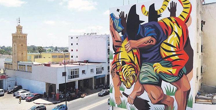 4ème Festival de Street art Jidar, Toiles de Rue : Les murs de Rabat s'égaient  de plus en plus