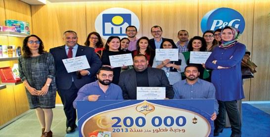 Une initiative signée Procter & Gamble Maroc : 50.000 ftours distribués aux  personnes en situation précaire