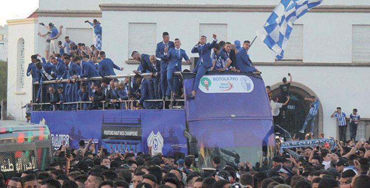 Les Tangérois fêtent leur équipe de foot