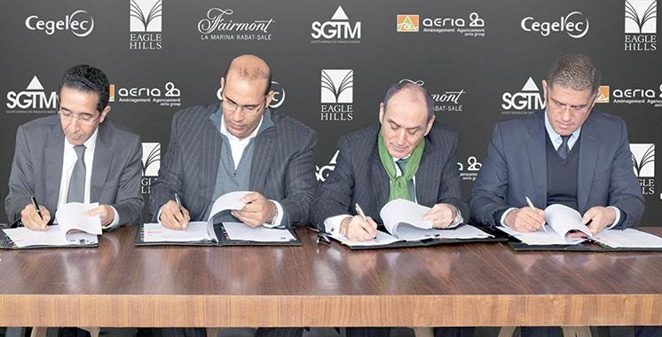 Façades et finition d'hôtel et Résidences Fairmont La Marina Rabat-Salé : Trois entreprises se joignent à Eagle Hills