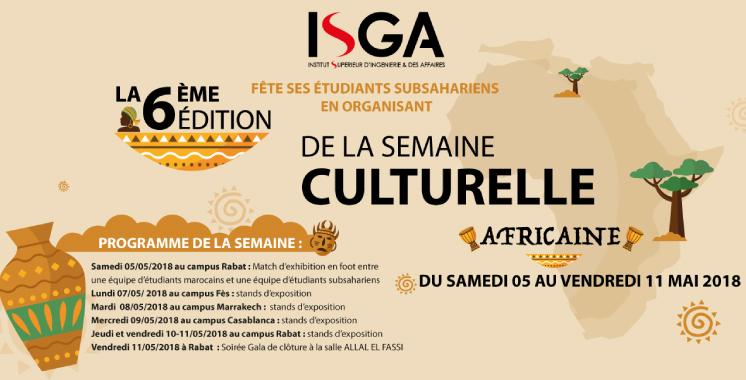 L'ISGA organise sa Semaine culturelle africaine