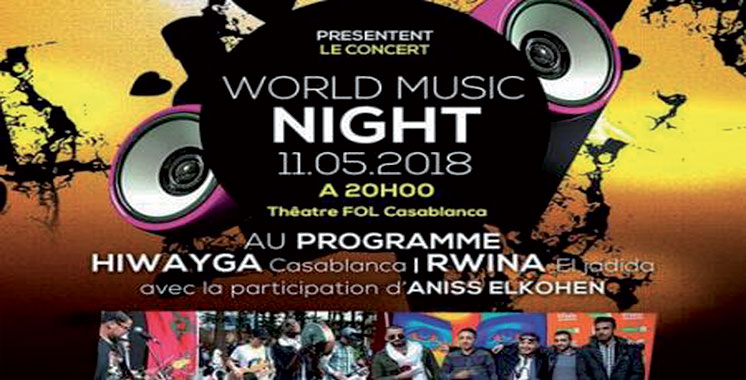 Les groupes Hiwayga et Rwina  en concert à Casablanca