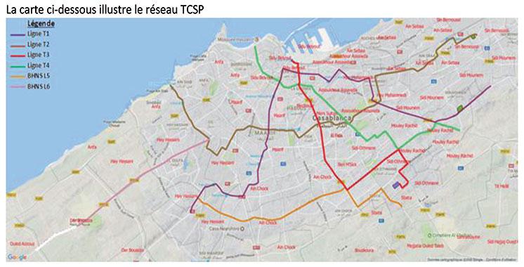 Réseau de transport à Casablanca : Les lignes de bus à haut niveau  opérationnelles en 2021